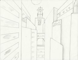 A Sketch Of A City by MarkLauck