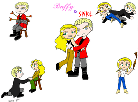 "Buffy and Spike ""Collage"" by ScruffyToto"