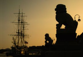 sphinxes of St. Petersburg by sunny-sunflower
