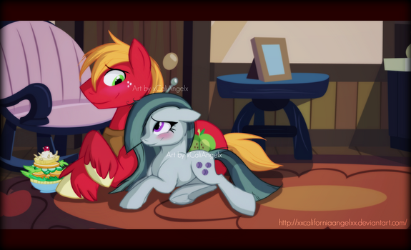 Marble Pie and Big Mac by xxCaliforniaAngelxx