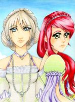Aeliis and Celiss by BeckyPennArt