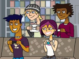 6teen playing Wii U by DJgames
