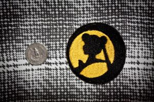 Sailor Moon Silhouette Patch by Rae-Lynn