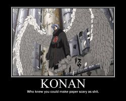 Konan Motivational Poster by HidanFanGurl