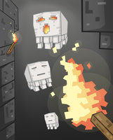 Minecraft Ghast by Ben3555