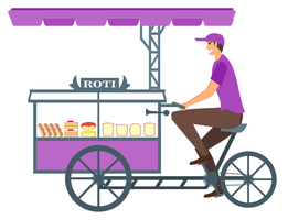 Bread Seller with Advanced Cycle cart by JuralMin