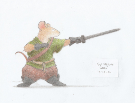 Mouse Warrior by guilhermecahu