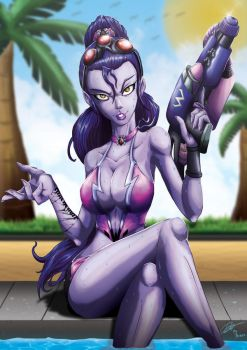 Pool Party Widowmaker by Kraus-Illustration