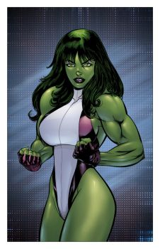 She Hulk by Justice 41 Colored by jharris
