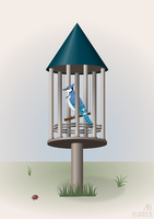 Bird in the Cage by ankrie
