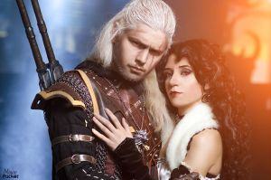 The Witcher - Geralt and Yennefer_5 by GreatQueenLina