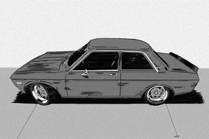 Nissan Datsun 510 Initial-D style by MikeWong2795