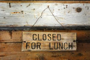 closed for lunch by LucieG-Stock