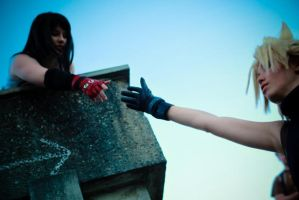In The End CloudxTifa by rifa