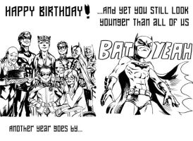 Bat Birthday card gift by MatiasSoto