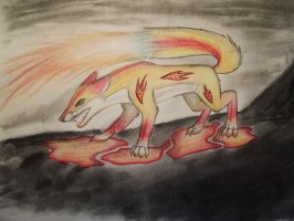 Element foxes: fire by The-fox-of-wonders