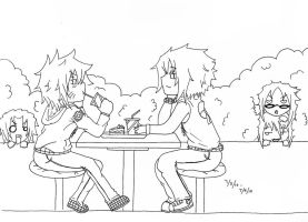 First Date Lineart by Anime14Emo