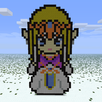 Minecraft- Princess Zelda TP by aprilgoddess
