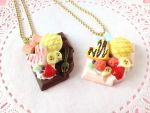 Sweet Chocolate Bar Necklaces by tiramisuxfluff