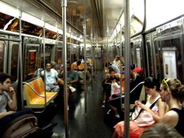 inside the NYC subway by samfrei