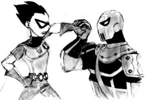 Robin vs Slade by Fabey