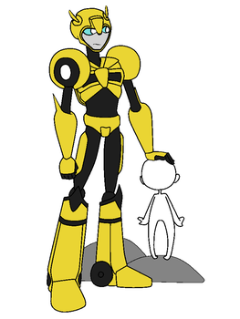 Protector: Bumblebee/OC (BASE) by DarthSuki