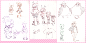 Splatoon Doodles 13, 14, 15 by Chenanigans