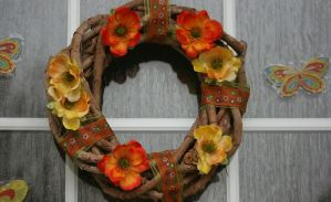 my selfmade spring wreath by ingeline-art