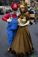 Tanooki Peach and Mario by JustPeachyCosplay