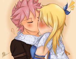Surprise Kiss (NaLu) by VIKI-J