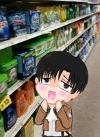 Levi at the store by LazerMan47