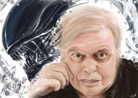 RIP Hr Giger by Shaatish