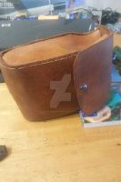 Aged leather pouch 8oz leftovers 3 by BlackhandCustoms