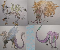 Random Creatures by BlueEvelyn