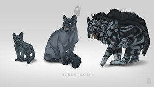 Sabertooth Pet by Blackpassion777