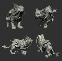 Noouva Silverbone mount for Luna from DOTA2 by Anuxinamoon
