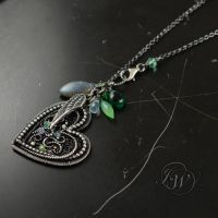 Elves whispers - Heart necklace by JoannaWatracz