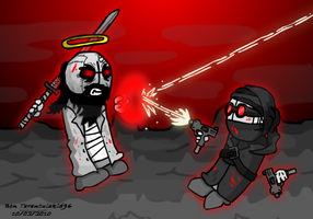 Madness Combat: Hank vs. Jesus by Tarantulakid96