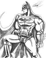 Batman side sketch by Wessel