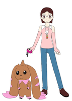 Gift- Christine and Her Lopmon by Supremechaos918