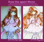 The smell of improvement - Before and after meme by MiMikuChair