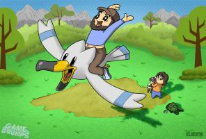 JonTron got his Wingull - GameGrumps by blue-von