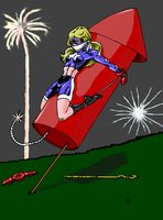 Fourth of July Stargirl by GrouchoM