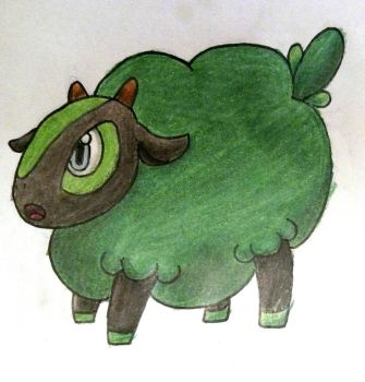 Shepi (The Lamb Pokemon) by Erron--Black