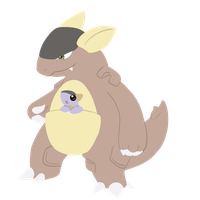 Kangaskhan from normal team, Serena by CleverConflict