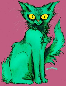 Mint Cat by Crowtesque