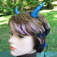Blue Dragon or Fairy Horns by merigreenleaf