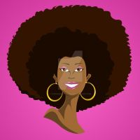BLACK GIRL CLIPART COMMISSION1 by chriscrazyhouse