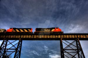 HDR Train Overhead by Nebey