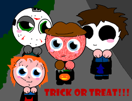 trick or treaters by Cheetana